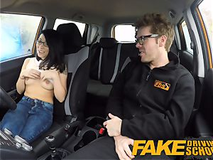 fake Driving school half asian little student pounds