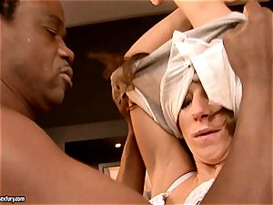 guiltless doll Debbie white is impaled in the gullet with older guy prick