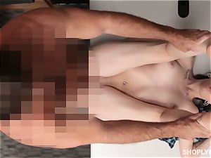 super hot ginger-haired shoplifter takes jizz-shotgun as penalty
