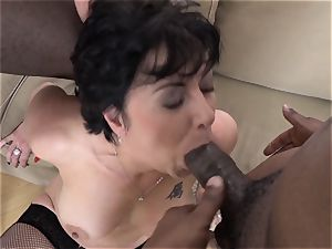 grannie 3somes with 2 black boys plow pricks in throat