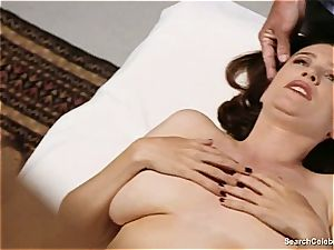 handsome Mimi Rogers gets her whole figure caressed