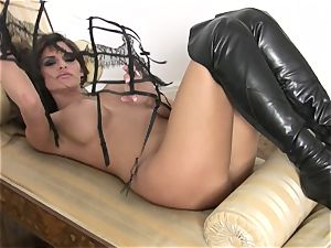 bubble culo Madelyn Marie stripping before her solo sheer pleasure