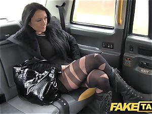 fake cab Local hooker nails cab guy