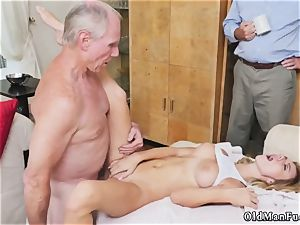 elder blond mummy bangs youthful chick very first time Molly Earns Her Keep
