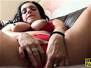 milking uk skank frolicking her moist fuckbox