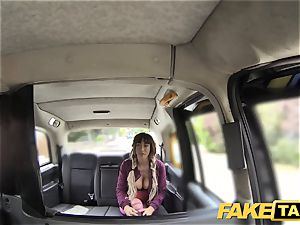 fake taxi Spanish jugs and english enormous manstick