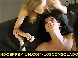 LOS CONSOLADORES - sloppy stunners have ultra-kinky threeway intercourse
