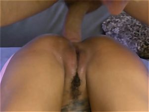 inked Bonnie Rotten sprays during rectal