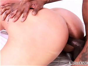 cootchie stuffed Alura Jenson by large dark-hued schlong and milky stud