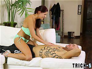 scorching masseur rides client