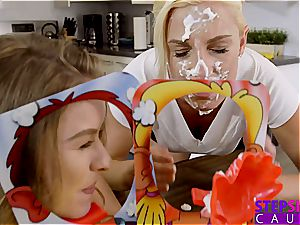 giant wood brutha gets a fantastic oral job from his sister