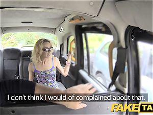 faux cab lean smallish platinum-blonde takes phat stiffy