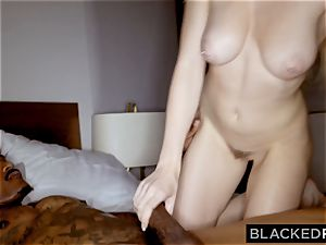 BLACKEDRAW cheating girlfriend likes her muscled ginormous black paramour