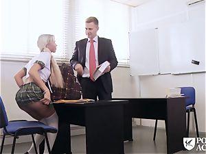 pornography ACADEMIE - college girl Lara Sins gets jism facialed