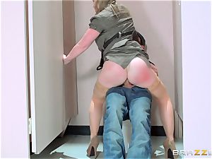Sunny Lane porks a strangers in the bathroom